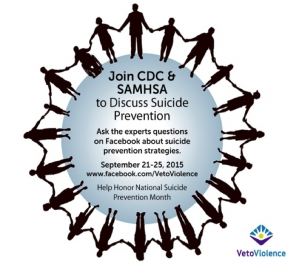 Don't miss your chance to Ask the Experts about Suicide Prevention